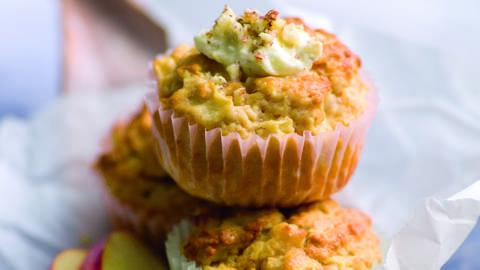 Muffins aux pommes et à la crème de noisettes