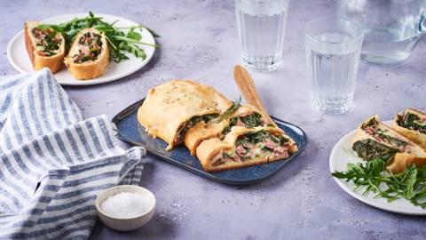 Stromboli aux épinards et jambon cuit
