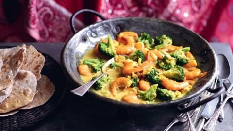 Curry de crevettes à la coco
