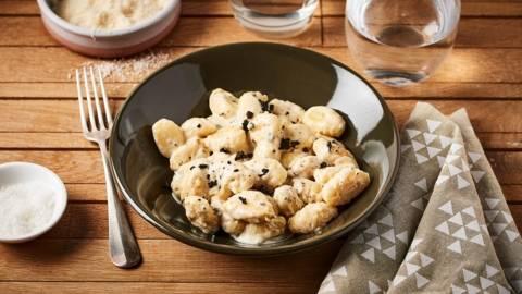 Gnocchi à la crème de truffe