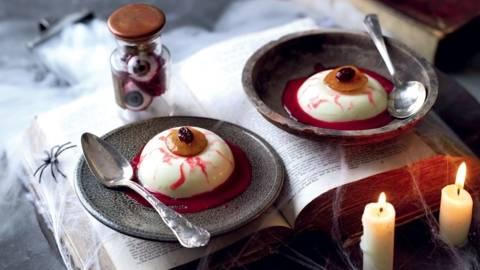 Dessert sanglant façon panna cotta