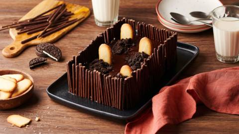 Gâteau cimetière au chocolat