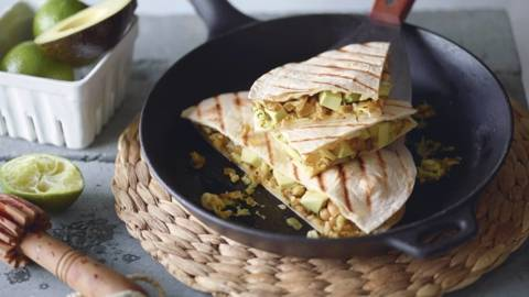 Quesadillas avocat-courgette