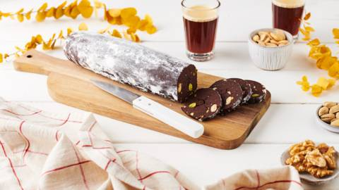 Saucisson au chocolat et fruits secs
