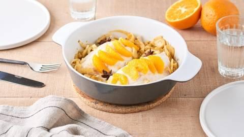 Daurade, fenouil et suprêmes d'oranges