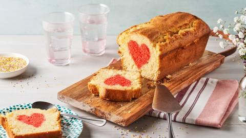 Cake cœur caché