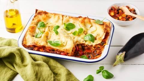 Lasagnes végétariennes courgette, pesto rosso et mozzarella