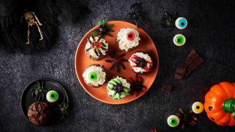 Cupcake brownie d'Halloween