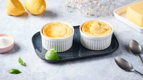 Mini soufflés au citron et basilic