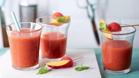 Smoothie pastèque-basilic-thé