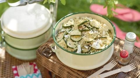 Salade de boulghour aux courgettes et feta