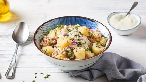 Salade du pêcheur et sa vinaigrette au yaourt