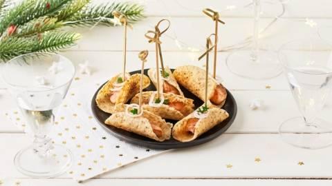 Bouchées au sésame et foie gras poêlé