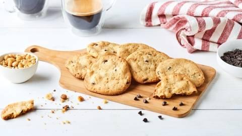 Cookies au beurre de cacahuètes, pépites de chocolat et cacahuètes