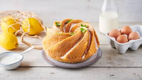 Bundt cake au citron et basilic