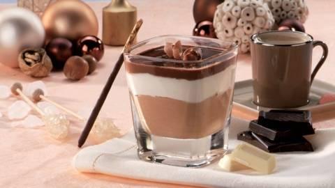 Verrine aux 3 chocolats