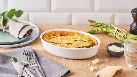 Clafoutis asperges et parmesan