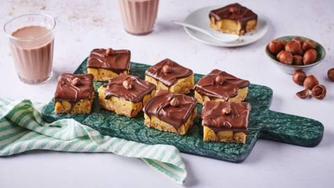 Carrés au chocolat noir et caramel