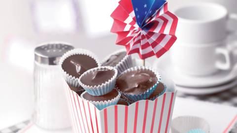Bouchées chocolatées au beurre de cacahuètes