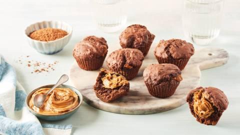 Cupcakes cœur coulant chocolat et speculoos
