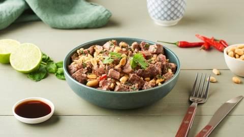 Salade de bœuf grillé à la coriandre