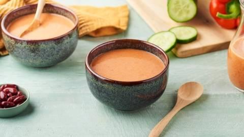 Gaspacho aux haricots rouges