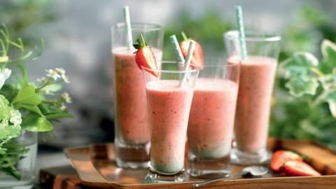 Milkshake fraise et menthe