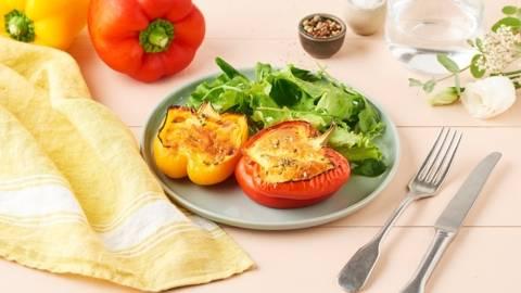 Poivron farci à l'omelette