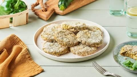 Croquettes de poivron vert, courgette et mozzarella