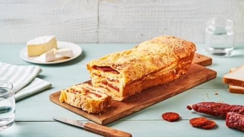 Croque cake camembert chorizo
