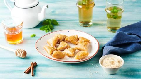 Briouates amandes et miel