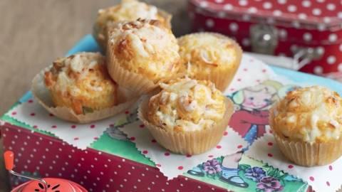 Muffins au jambon et maïs