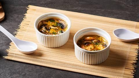 Flan japonais œufs-crevettes | Chawanmushi