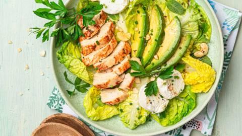 Salade toute verte au poulet