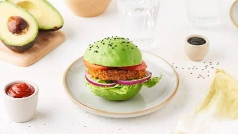 Burger d'avocat vegan