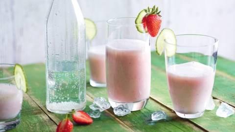Lassi fraise-concombre