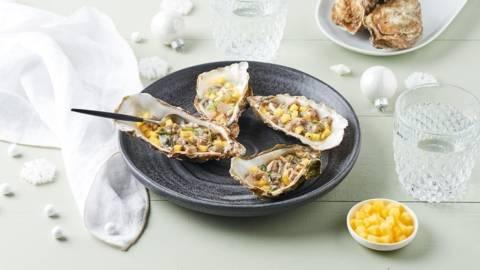 Tartare d'huître et mangue