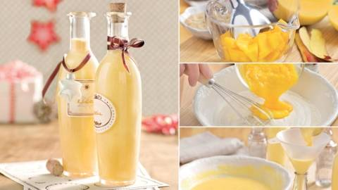 Cocktail à la mangue et au rhum