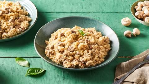 Risotto de quinoa aux champignons