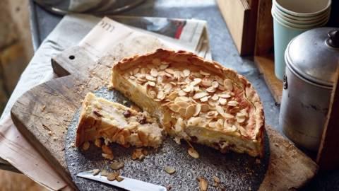 Gâteau au fromage blanc et aux pommes