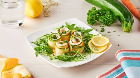 Roulés de plie aux légumes de saisons