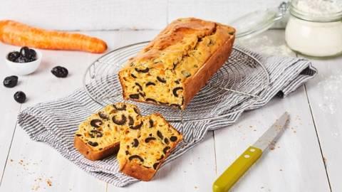 Cake salé végétarien aux olives