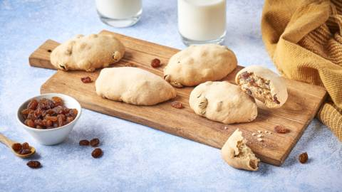 Petits pains grecques aux raisins secs | Stafidopsoma