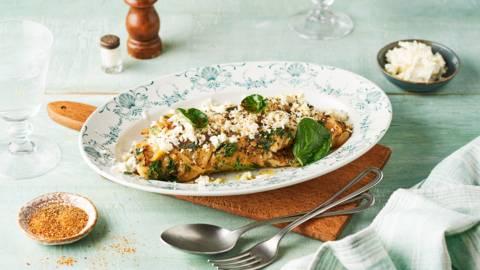 Omelette au cresson et feta