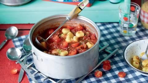 Soupe de tomates aux gnocchi