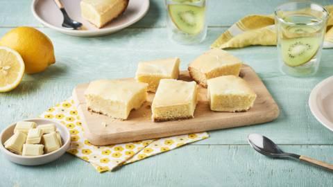 Lemon brownie au chocolat blanc et zestes de citrons