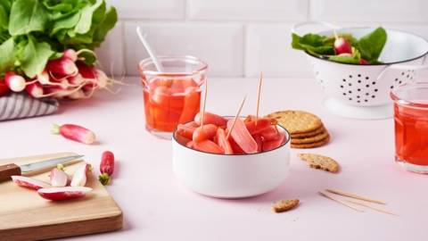 Detox pickles de radis rose