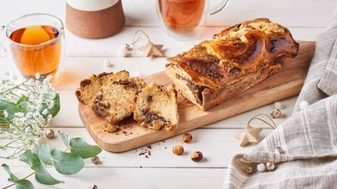 Krantz cake au chocolat et noisettes caramélisées