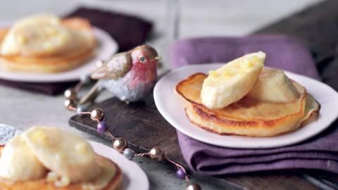 Pancakes au gingembre et banane