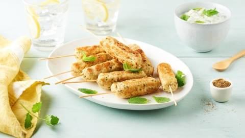 Keftas de dinde sauce concombre et menthe